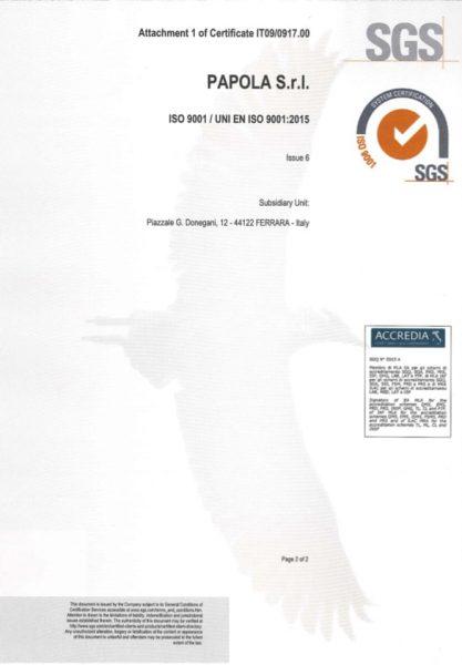 Certificato ISO9001-2015 - SEDE - EN2