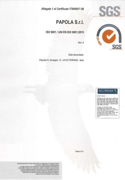 Certificato ISO9001-2015 - SEDE - IT2